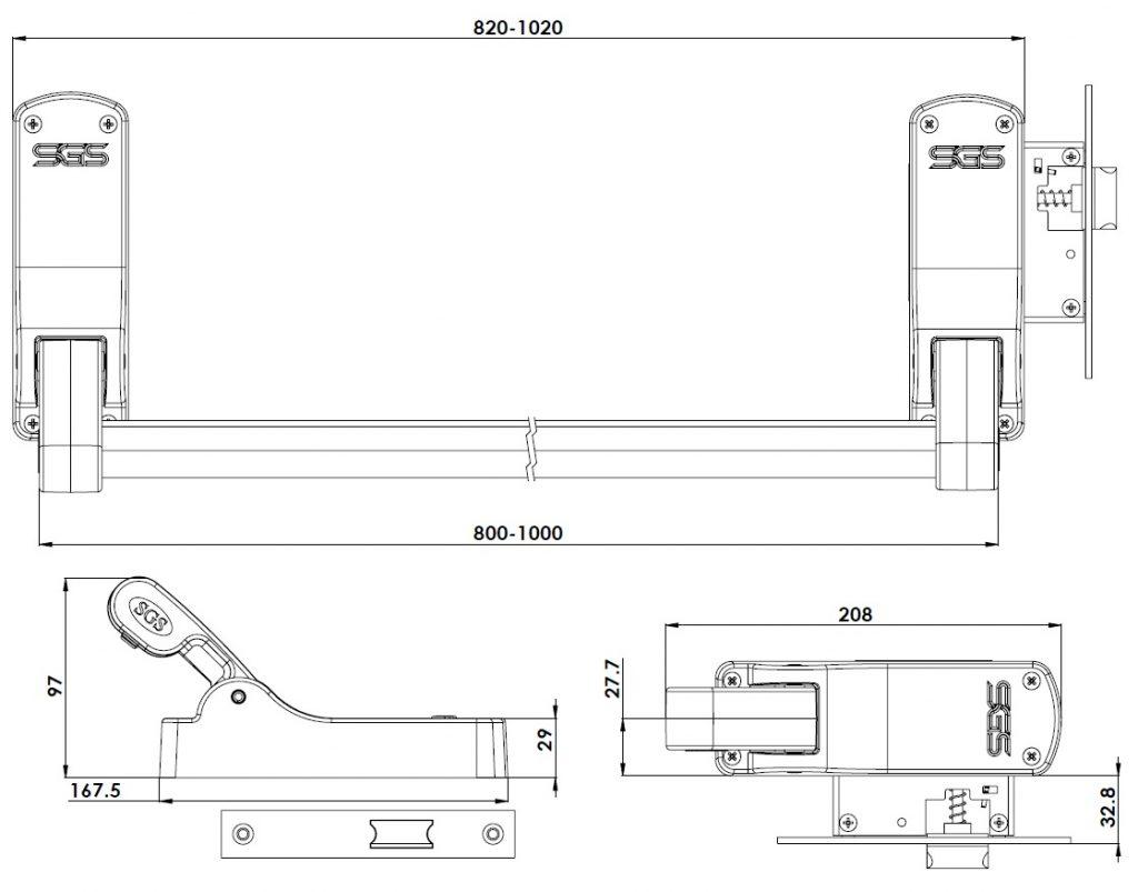 شرکت سیستم گستر سینا تولید کننده قفل درب های ضد حریق، دستگیره اهرمی و تاچ